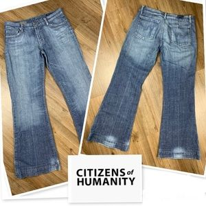 CITIZENS OF HUMANITY Faye Low Wide Leg Boho Jeans